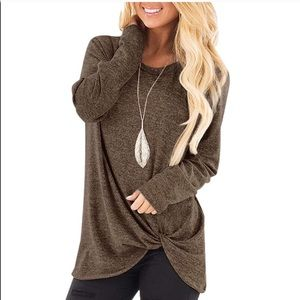 Tops - Heathered Brown Tunic